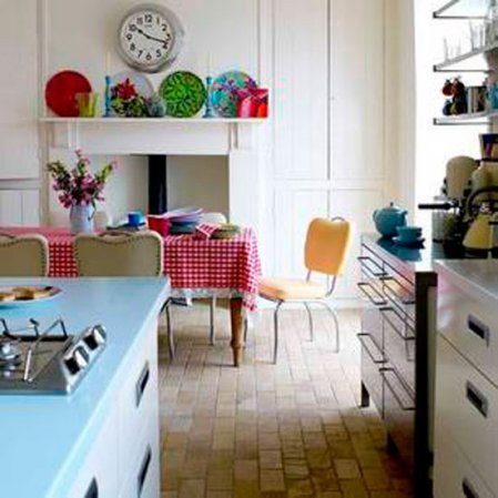 White kitchen with colorful accessories